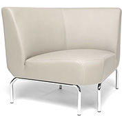 OFM Triumph Series 90 Degree Angle Lounge Chair in Cream Vinyl