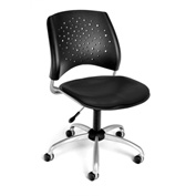 OFM Swivel Office Chair - Vinyl - Mid Back - Black - Stars Series