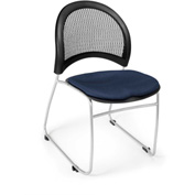 Ofm Moon Fabric Stack Chair, Navy - Pkg Qty 4