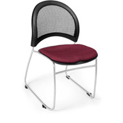 Ofm Moon Fabric Stack Chair, Burgundy - Pkg Qty 4
