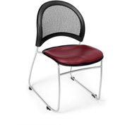 Ofm Moon Vinyl Stack Chair, Wine - Pkg Qty 4