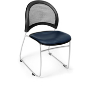 Ofm Moon Vinyl Stack Chair, Navy - Pkg Qty 4