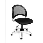 OFM Swivel Office Chair - Fabric - Mid Back - Black - Moon Series