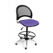 OFM Fabric Swivel Stool with Drafting Kit (Footstool) - Moon Pattern - Lavender