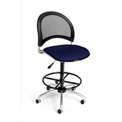 OFM Fabric Swivel Stool with Drafting Kit (Footstool) - Moon Pattern - Navy