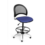 OFM Fabric Swivel Stool with Drafting Kit (Footstool) - Moon Pattern - Colonial Blue