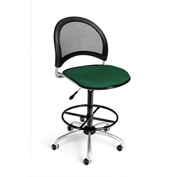 OFM Fabric Swivel Stool with Drafting Kit (Footstool) - Moon Pattern - Forest Green