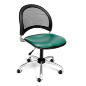 OFM Moon Vinyl Swivel Chair, Teal