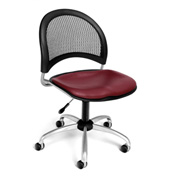OFM Moon Vinyl Swivel Chair, Wine
