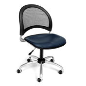 OFM Moon Vinyl Swivel Chair, Navy
