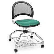 OFM Foresee Mobile School Chair with Storage Basket - Shamrock Green - Moon Series