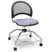 OFM Foresee Mobile School Chair with Storage Basket - Lavender - Moon Series