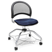 OFM Foresee Mobile School Chair with Storage Basket - Navy - Moon Series