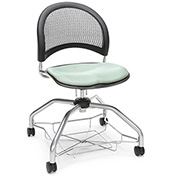 OFM Foresee Mobile School Chair with Storage Basket - Sage Green - Moon Series