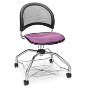 OFM Foresee Mobile School Chair with Storage Basket - Plum - Moon Series