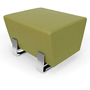 OFM Vinyl Lobby Bench - Single Seating - Leaf with Chrome Frame - Axis Series