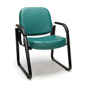 OFM Antimicrobial Guest Chair with Arms - Vinyl - Mid Back - Teal