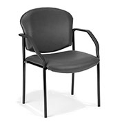Vinyl Guest/Reception Chair 4 Legs - Charcoal