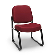 Armless Guest/Reception Chair - Wine