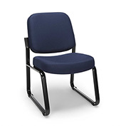 OFM Reception Guest Chair - Fabric - Mid Back - Navy