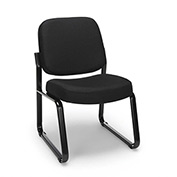 Armless Guest/Reception Chair - Black