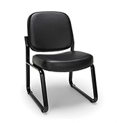 OFM Model 405-VAM Armless Guest and Reception Chair, Anti-Microbial/Anti-Bacterial Vinyl, Black