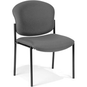Deluxe Armless Stack Chair - Gray Fabric