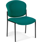Deluxe Armless Stack Chair - Teal Fabric