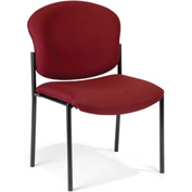Deluxe Armless Stack Chair - Wine Fabric