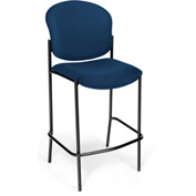 OFM Café Height Chair - Fabric - Navy - Pkg Qty 2
