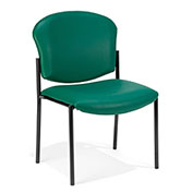 OFM Antimicrobial Stacking Chair - Vinyl - Teal