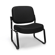 Big & Tall Armless Guest/Reception Chair Black
