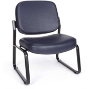 Big & Tall Armless Vinyl Guest/Reception Chair Navy