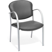 Contract Vinyl Upholstered Arm Chair - Charcoal