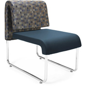 OFM Reception Chair - Blue - Leather - Uno Series - Pkg Qty 2