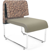OFM Reception Chair - Taupe - Leather - Uno Series - Pkg Qty 2