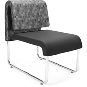 OFM Reception Chair - Black - Leather - Uno Series - Pkg Qty 2