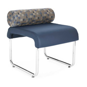 OFM Guest Chair with Pillow Seat Back - Polyurethane - Navy - Uno Series