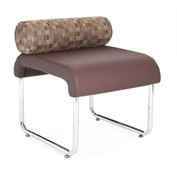 OFM Guest Chair with Pillow Seat Back - Polyurethane - Brown - Uno Series