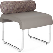 OFM Guest Chair with Pillow Seat Back - Polyurethane - Taupe - Uno Series