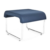 OFM Backless Guest Chair - Polyurethane - Navy - Uno Series