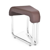 OFM Wedge Guest Chair - Polyurethane - Brown - Uno Series