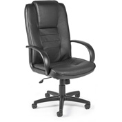 Promo Hi-Back Leather Chair - Black
