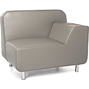 OFM Serenity Series Left Arm Lounge Chair Taupe w/ Bronze Tablet