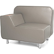 OFM Serenity Series Right Arm Lounge Chair Taupe w/ Bronze Tablet