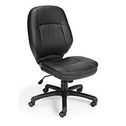 Armless Ergonomic Task Chair- Black