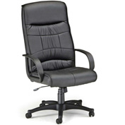 OFM Office Chair - Synthetic Leather - High Back - Black - Encore Series
