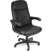 OFM Executive Conference Chair - Leather - High Back - Black