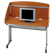 "Study Carrel 48"" - Cherry & Silver"