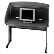 "OFM Modular Study Carrel 24""D x 48""W x 50-1/2""H, Graphite with Black"